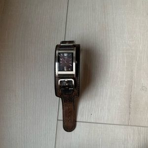 Guess men brown leather